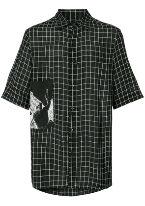 Ex Infinitas checked shirt - Black