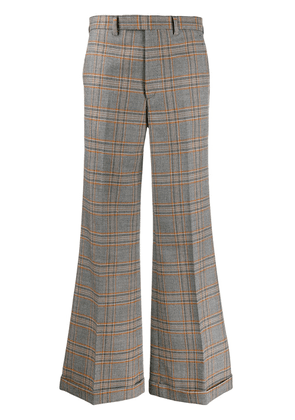 Gucci plaid flared trousers - Grey