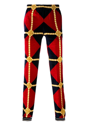 Gucci argyle tapered trousers - Blue