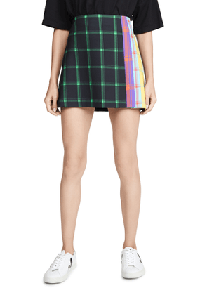 alice + olivia Semira Pleated Miniskirt