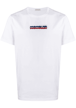Moncler embroidered logo patch T-shirt - White