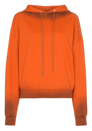 Eckhaus Latta burnt effect hoodie - Orange