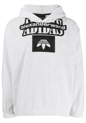 Adidas Originals By Alexander Wang hooded logo sweatshirt - White