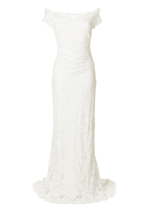 Olvi´S off shoulder bridal gown - Neutrals