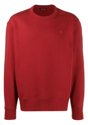 Acne Studios Fairview Face sweatshirt - Red