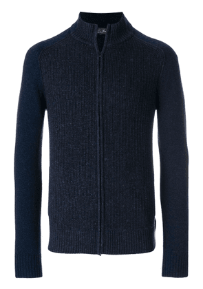 Loro Piana full zip high neck cardigan - Blue