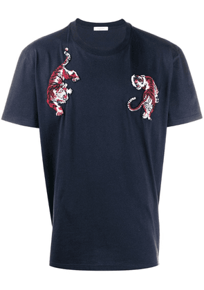 Valentino tiger embroidered T-shirt - Blue