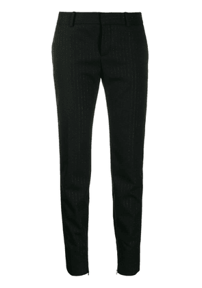 Saint Laurent tuxedo band trousers - Black