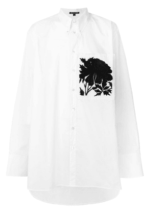 Ann Demeulemeester oversize embroidered pocket shirt - White