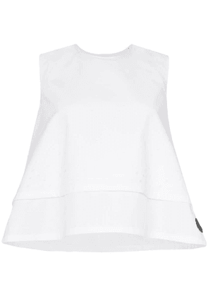 Moncler perforated sleeveless top - White