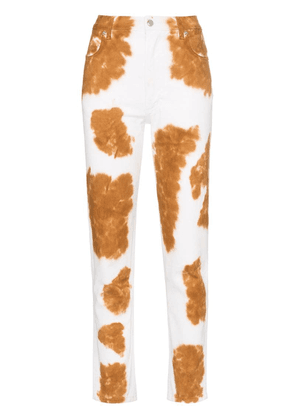 Eckhaus Latta cow print straight leg jeans - Brown