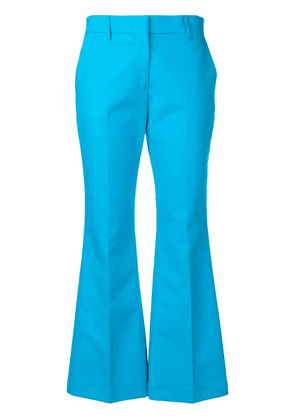 MSGM flared trousers - Blue