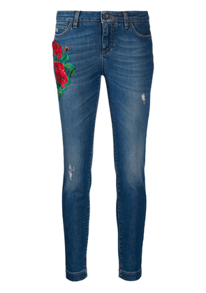 Dolce & Gabbana embroidery skinny-fit jeans - Blue