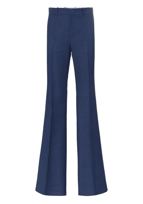 Gucci mid-rise flared trousers - Blue