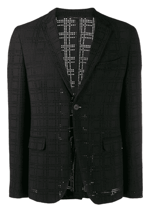 Fendi perforated blazer - Black