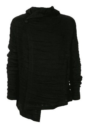 Forme D'expression asymmetric ribbed jacket - Black