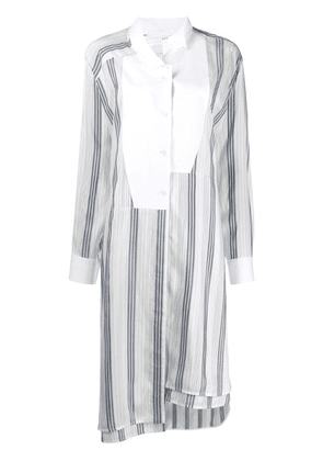 Loewe off centre striped shirt - White