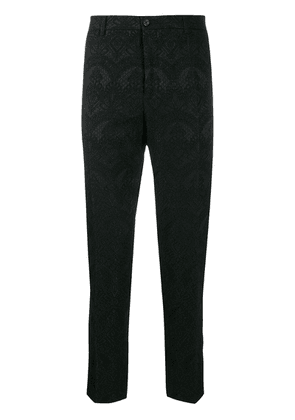Dolce & Gabbana floral lace patterned trousers - Black