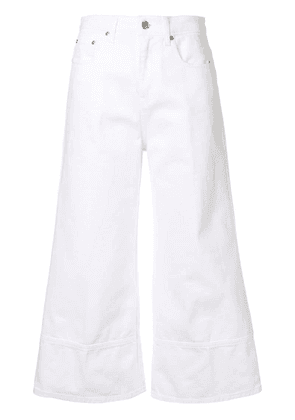 MSGM cropped flared jeans - White