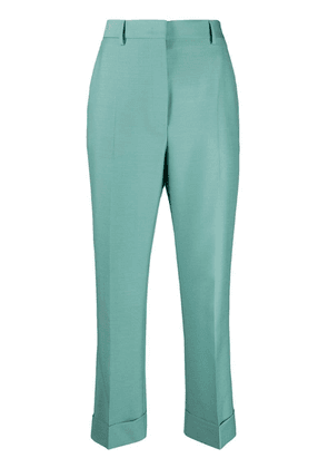 Fendi cropped tailored trousers - Blue