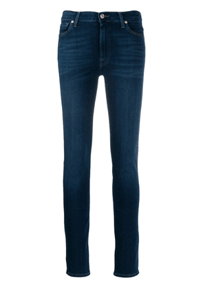 7 For All Mankind faded skinny jeans - Blue