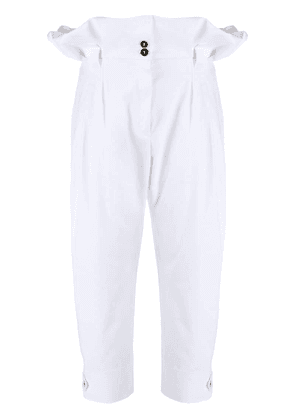 Dolce & Gabbana paper-bag tailored trousers - White