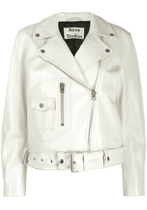 Acne Studios relaxed fit biker jacket - White