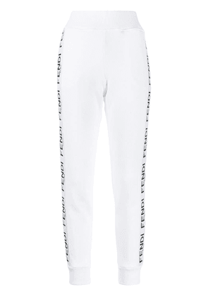 Fendi tapered track style trousers - White