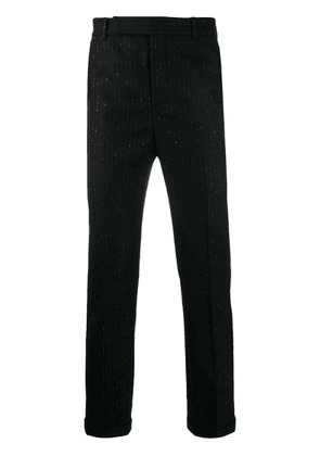 Saint Laurent metallic pinstripe tailored trousers - Black
