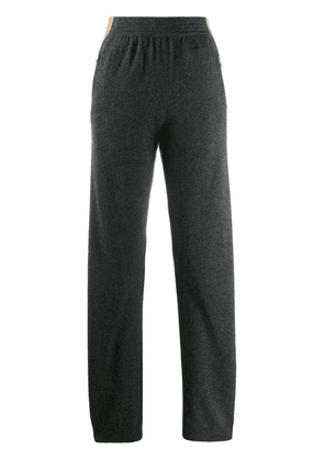 Givenchy side stripe knitted trousers - Grey