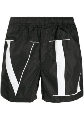 Valentino logo print swim shorts - Black