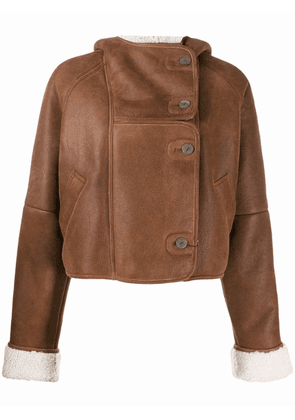 Loewe shearling fitted jacket - Brown