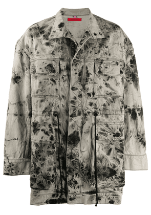 Eckhaus Latta tie-dye denim jacket - Neutrals
