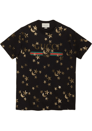 Gucci T-shirt with stars and moon print - Black