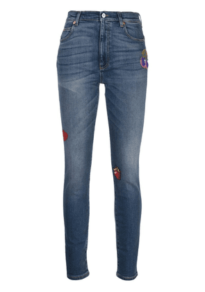 Gucci patches skinny-fit jeans - Blue