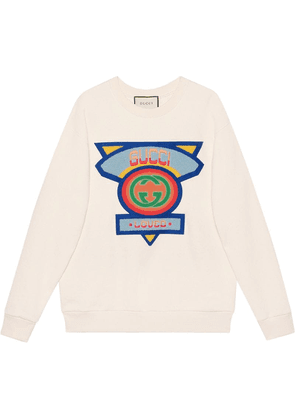 Gucci Oversize sweatshirt with Gucci '80s patch - White
