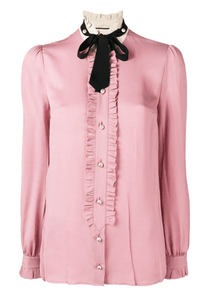 Gucci frilled loose blouse - Pink