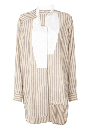 Loewe oversized striped blouse - Brown