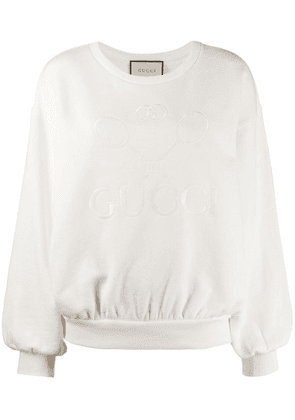 Gucci Oversize sweatshirt with Gucci Tennis - White
