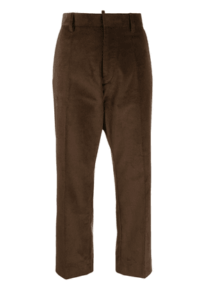 Dsquared2 cropped corduroy trousers - Brown