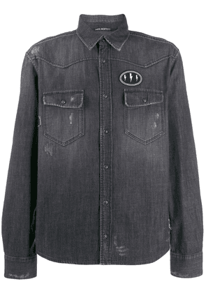 Neil Barrett denim shirt - Black