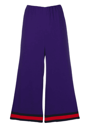 Gucci Web trim culottes - Purple