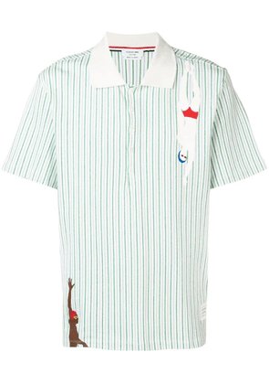 Thom Browne striped swimmer polo shirt - Green