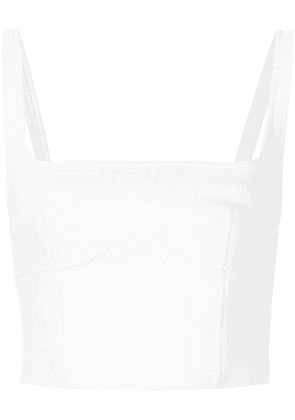 Dion Lee bonded bustier top - White