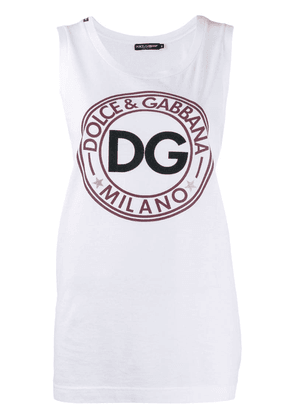 Dolce & Gabbana relaxed-fit logo tank top - White