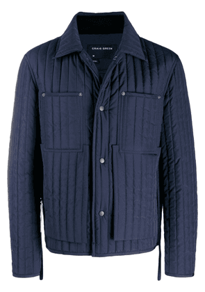 Craig Green quilted jacket - Blue