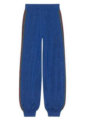 Gucci Jogging pants in wool with lurex - Blue