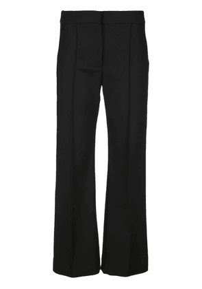 Derek Lam Cropped Flare Cotton Sateen Trouser with Pintuck Details -