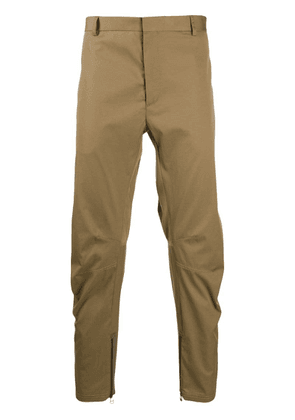 Lanvin zipped cropped trousers - Brown