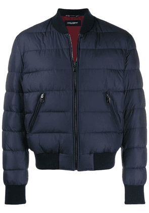 Dolce & Gabbana quilted bomber jacket - Blue
